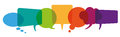 Colored Speech Bubbles Header Royalty Free Stock Photo