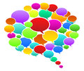 Colored speech bubbles vector illustration Stock Photo