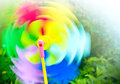 Colored spinning toy propeller Royalty Free Stock Photography