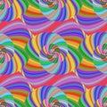 Colored Spiral Fractal Pattern...