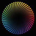 Colored Spirale Dots Tube Black Ending Circular Pattern Royalty Free Stock Photo