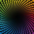Colored Spirale Tube Dots Infinity Royalty Free Stock Photo