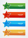 Colored star banner with cubes form Royalty Free Stock Photography