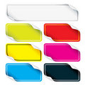 Colored Stickers Royalty Free Stock Photo