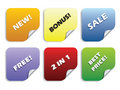 Colored stickers Royalty Free Stock Image