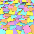 Colored Sticky Note Background Collage Royalty Free Stock Image