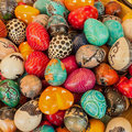 Colored stones found at a flee market Royalty Free Stock Photo