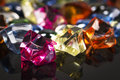 Colored stones the iluminated in lightroom Stock Photography