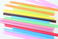 Colored straws Isolated on white background Royalty Free Stock Photo