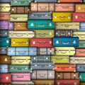 Colored suitcases Stock Photography