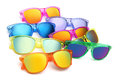Colored sunglasses summer concept on white background Royalty Free Stock Photography