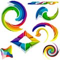 Colored Symbols Stock Photography