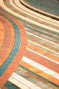 Colored tails a floor with multicolored and lines Royalty Free Stock Photo