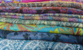 Colored textiles Royalty Free Stock Photo