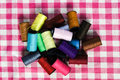 Colored thread for sewing. Royalty Free Stock Photo
