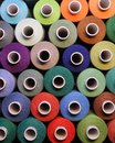 Colored thread for sewing.Threads in spools Royalty Free Stock Photo