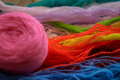 Colored threads for embroidery hobby Royalty Free Stock Photo