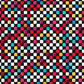 Colored tiles seamless pattern Royalty Free Stock Photo