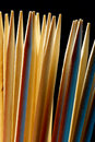 Colored toothpicks Stock Images