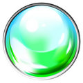 Colored transparent sphere Stock Photos