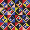 Colored triangles. Seamless pattern