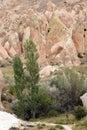 Colored tufa formations in kizilcukur valley of cappadocia turkey Stock Photography