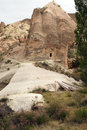 Colored tufa formations in kizilcukur valley of cappadocia turkey Stock Image