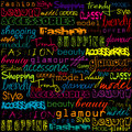 Colored typoghraphy with fashion words Stock Photo