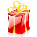 Colored vector gift Royalty Free Stock Images