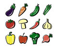 Colored vegetables icon
