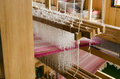 Colored warp closeup of loom with from the north of sweden Royalty Free Stock Photos