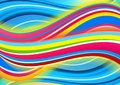 Colored Waves Background