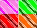 Colored Waves Background Set Stock Photo