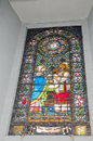 Colored window of a church Stock Photography
