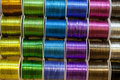 Colored wire spools Royalty Free Stock Images