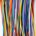 Colored wires background Royalty Free Stock Images