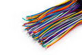 Colored wires are isolated Stock Image