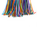 Colored wires isolated on white background Stock Photos