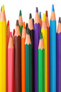 Colored wood-free pencils Royalty Free Stock Photo