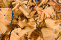 Colored wooden pencil shavings Royalty Free Stock Photo