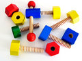 Colored Wooden Toy Royalty Free Stock Photo