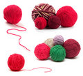 Colored wool clews set Royalty Free Stock Photography
