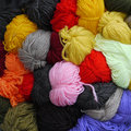 Colored wool skeins Royalty Free Stock Image