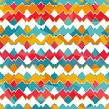 Colored zigzag seamless pattern eps Royalty Free Stock Photo