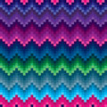 Colored zigzag seamless pattern ethnic Royalty Free Stock Photo