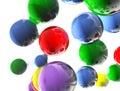 Coloreds balls Royalty Free Stock Photo
