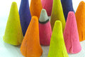 Colorfud incense cone Royalty Free Stock Photo