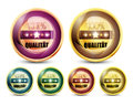 Colorful 100% Qualitat Button Set Royalty Free Stock Images