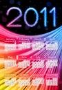 Colorful 2011 Calendar on Black Stock Photo