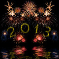 Colorful 2013 new year fireworks Royalty Free Stock Images